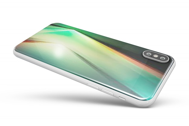 Smartphone mockup isolated