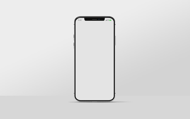 Smartphone mockup isolated