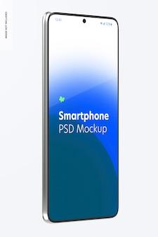 Smartphone mockup, vista laterale destra