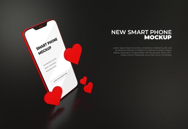 モダンなデザインのスマートフォンのモックアップ
