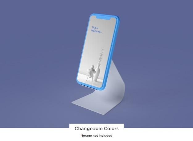 スタンドモックアップ上のスマートフォン