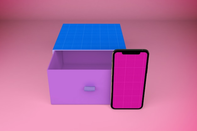 Smartphone and open box