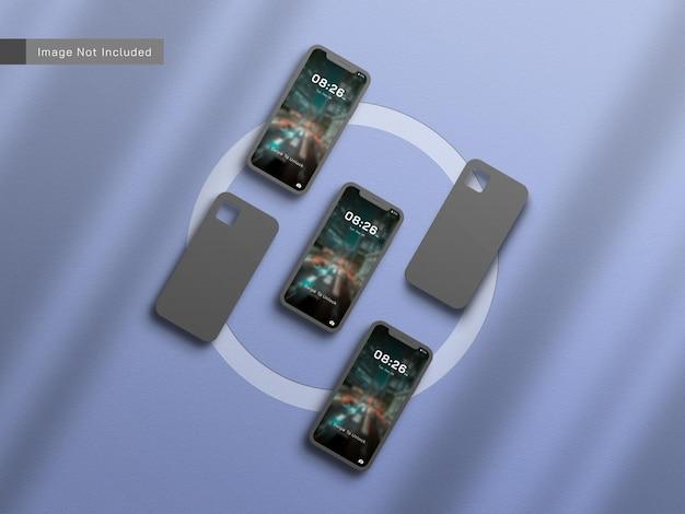 スマートフォンまたはモバイルのモックアップ