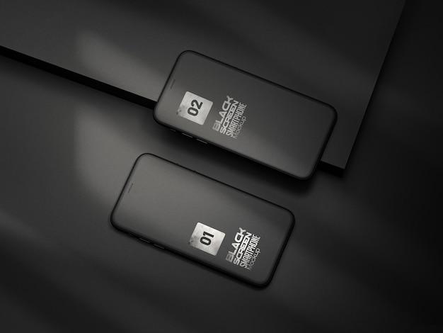 スマートフォンまたはマルチメディアデバイスの粘土のモックアップ