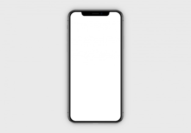 Smartphone prototype with screen mockup