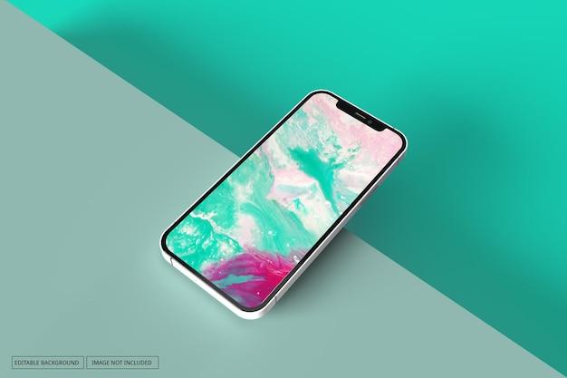Смартфон реалистичный макет изолированного экрана