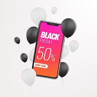 Рекламный макет продажи смартфонов