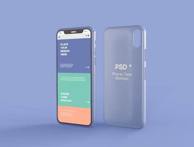 Экран смартфона и чехол-макет