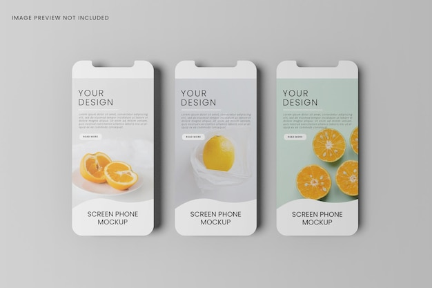Smartphone screen for apps mockup