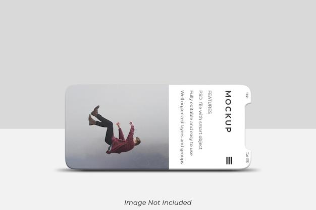 Экран смартфона для макета презентации ui ux app