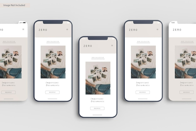 Рендеринг дизайна макета экрана смартфона