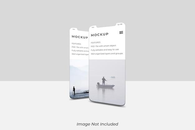 スマートフォン画面のモックアップデザイン