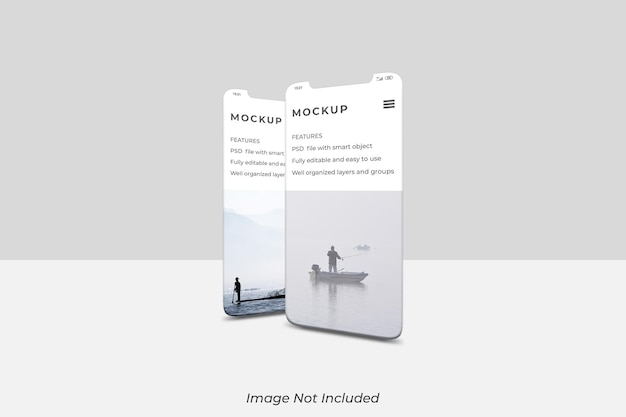 Smartphone screen mockup design