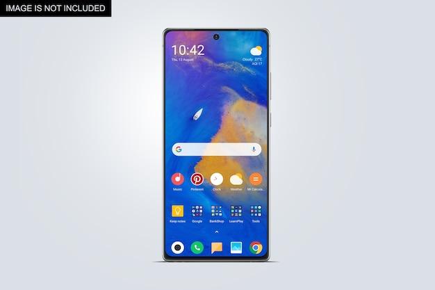 スマートフォン画面モックアップ正面図
