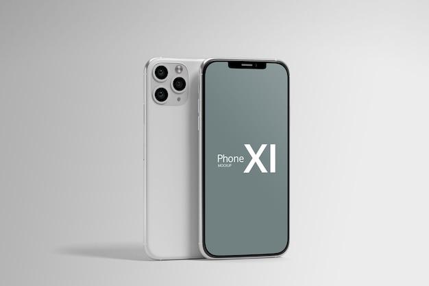 分離されたスマートフォン画面モックアップ