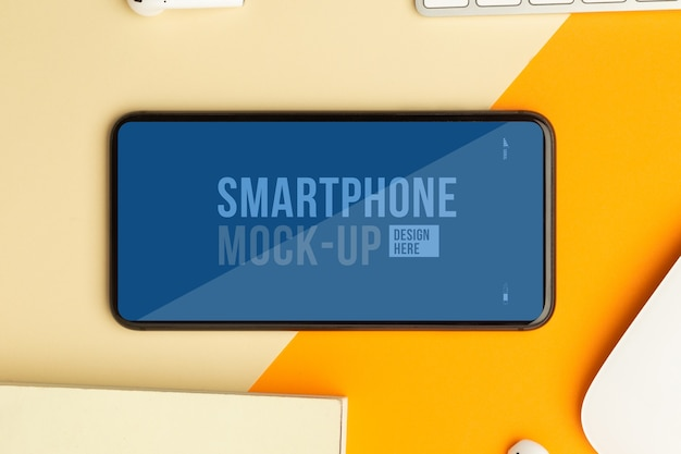 Smartphone screen mockup template