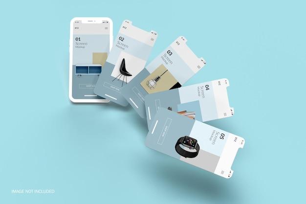 Мокап экрана смартфона со слоем