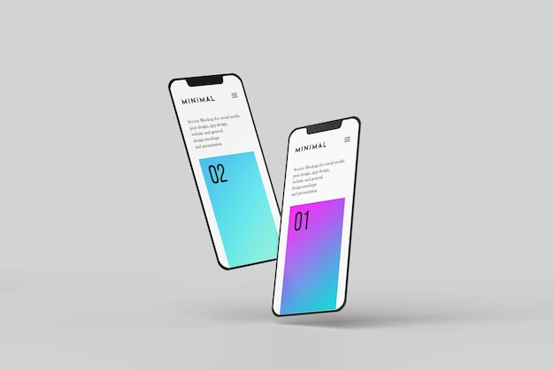 Smartphone screen mockup