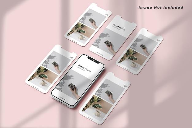 Smartphone and screen mockup