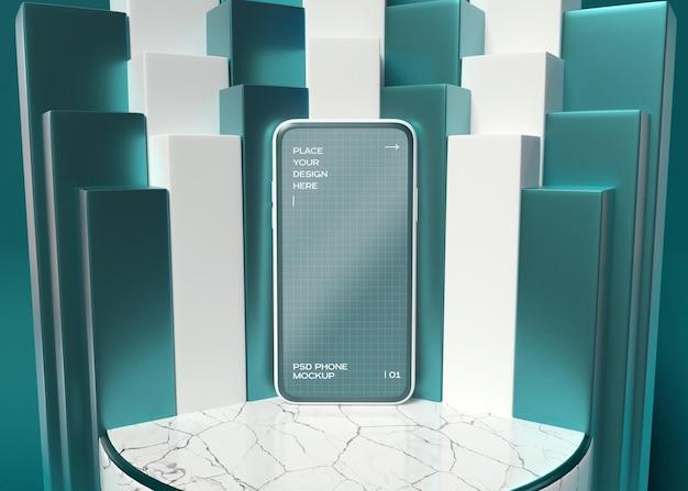 スマートフォン画面のモックアップ