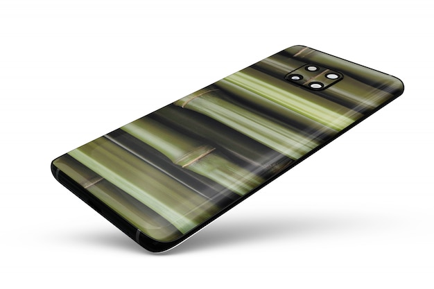 Smartphone skin mock-up isolated
