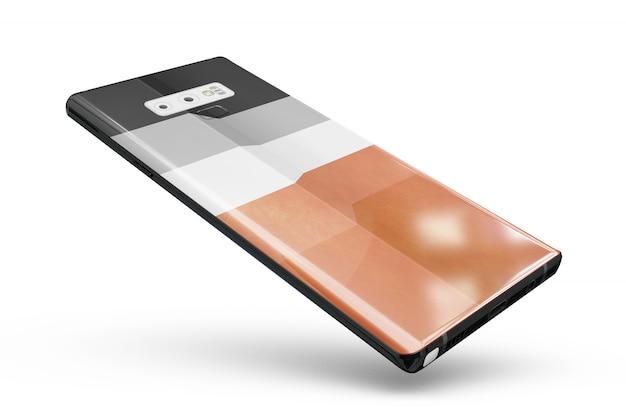 Smartphone skin mock-up isolated