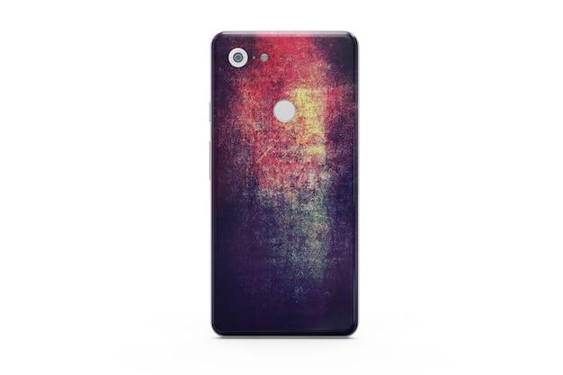 Smartphone skin mockup up isolated