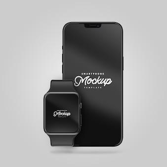 Smartphone and smartwatch mockup