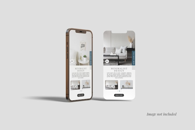 Smartphone and ui screen mockup