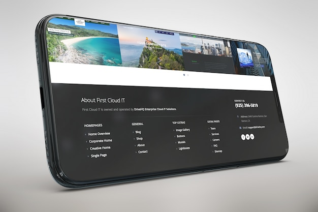 Smartphone with big screen mock up