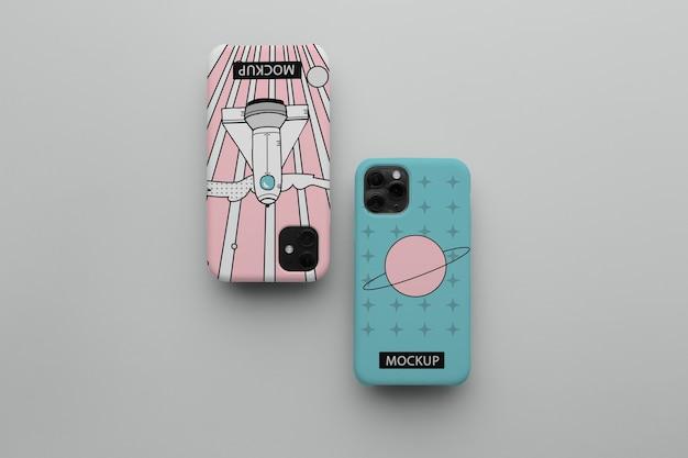 Смартфон с корпусом минималистичный дизайн-макет