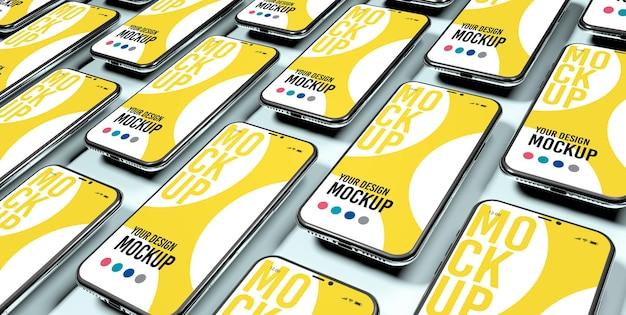 Смартфоны в дизайне макета узоров