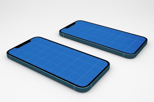Smartphones mockup Premium Psd