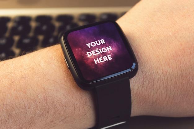 Smartwatch display mockup