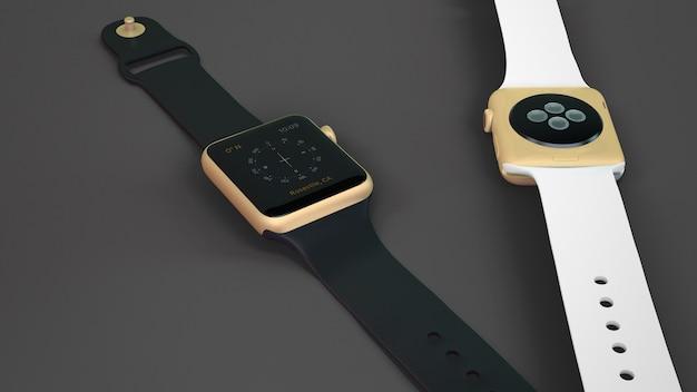 Макет smartwatch из двух