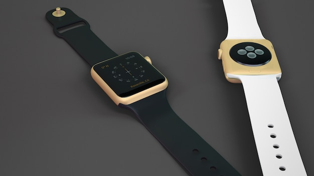Smartwatch mockup of two