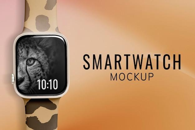 Smartwatch 화면 목업 psd, 웨어러블 디지털 장치