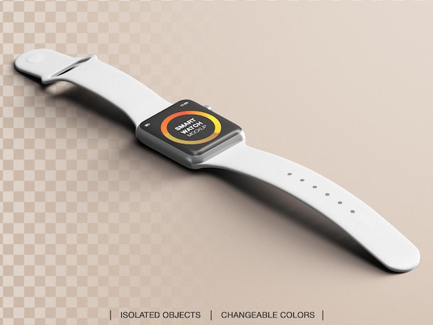 Smartwatch 스포츠 가제트 디스플레이 인터페이스 앱 디자인 프레젠테이션 모형