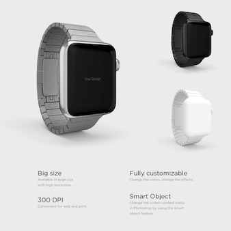 Smartwatches with differents watchstraps