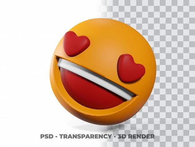 Улыбка эмотикон 3d на прозрачном фоне