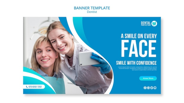 A smile on every face banner template