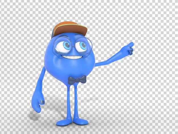 Smiling funny 3d character mascot illustration