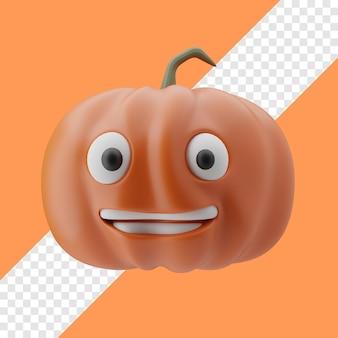 Smiling pumpkin 3d illustration