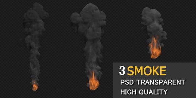 黒の背景に煙のデザイン
