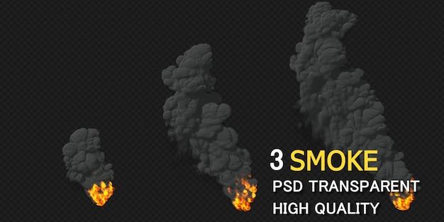 Smoke design rendering isolated rendering