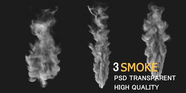 Smoke design rendering isolated