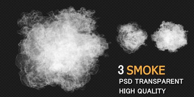Smoke explosion design rendering isolated rendering