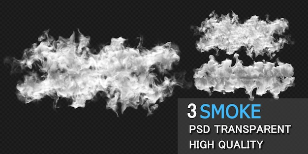 Smoke explosion design rendering isolated