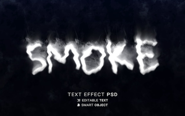 Smoke text effect writing