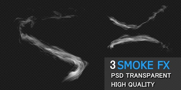 孤立したプレミアムpsdをレンダリングするスモークトレイル写真fxデザイン